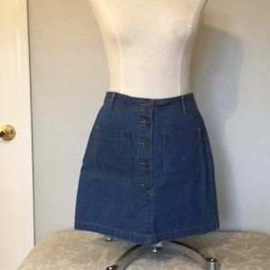 Old Navy button fly denim skirt. Never worn.